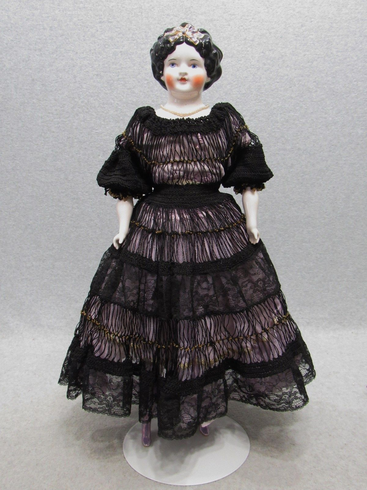 """22"""" Beautiful Antique Reproduction Vintage Emma Clear China Head Lady Doll """"TLC"""" 