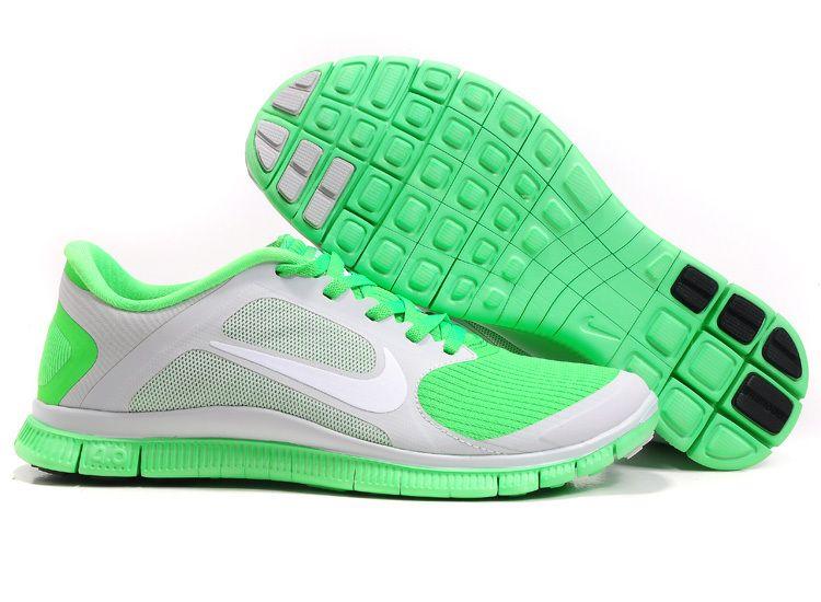 los angeles 8fb10 d8f39 Billig Schuhe Damen Nike Free 4.0 V3 (Farbe Vamp-grau,innen-orange logo Sohle-weiB)  Online Laden.   Billig Nike Free 4.0 V3   Pinterest