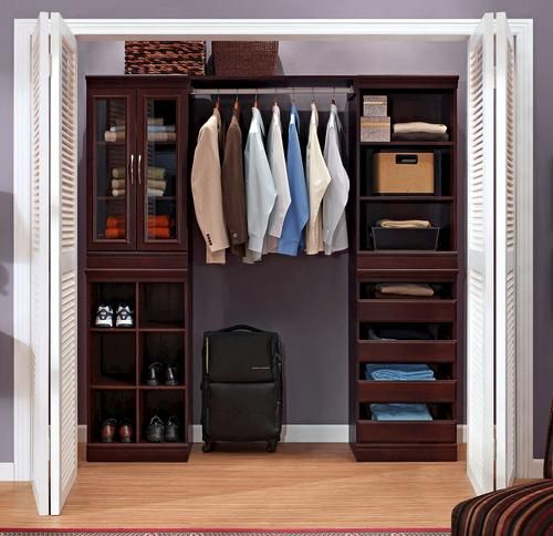 Beau Complete Closet System   Dark Cherry At Menards