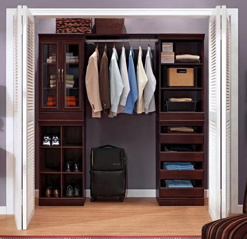 Complete Closet System Dark Cherry At Menards Closet Organizing Systems Home Depot Closet System Closet System