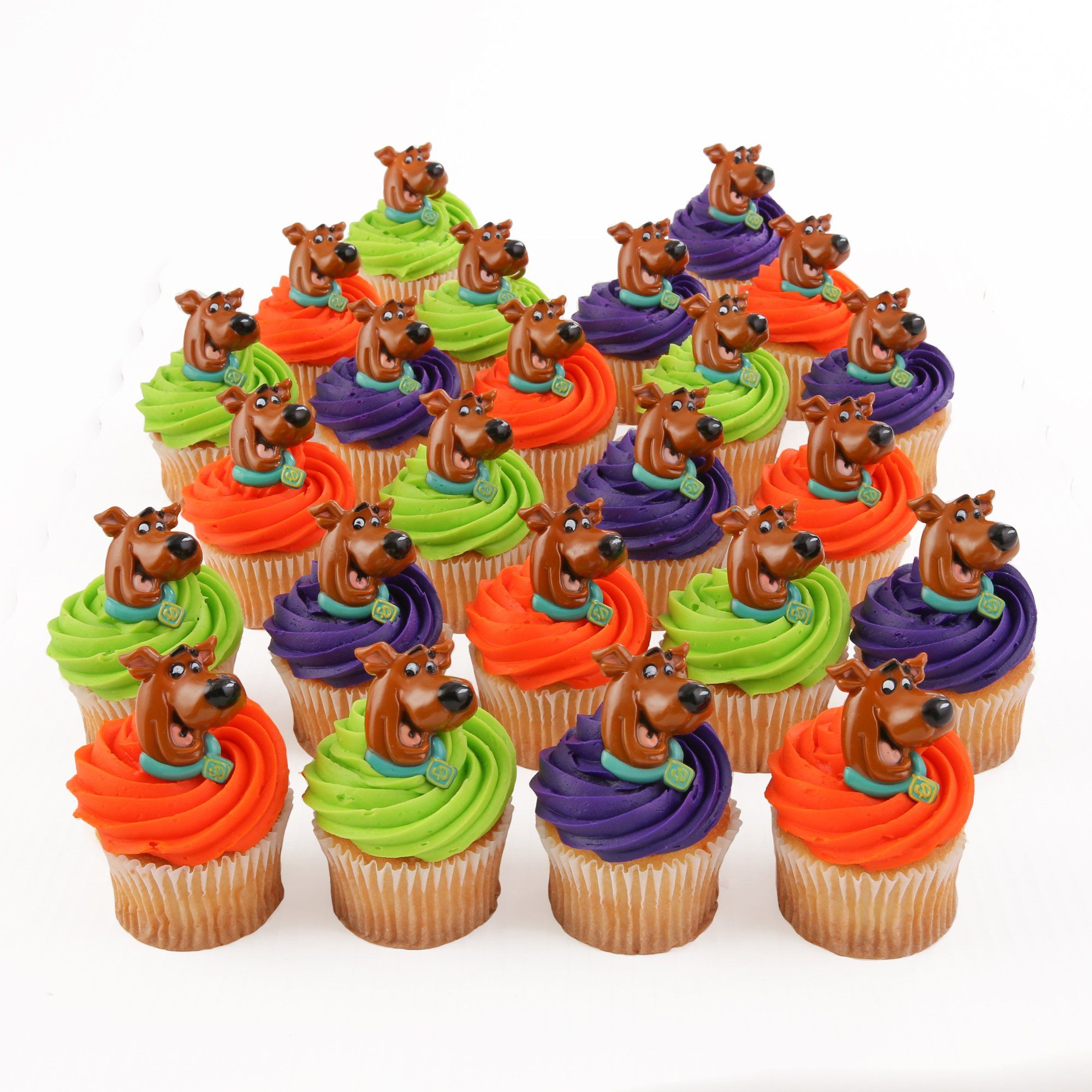 Amazon.com: Scooby-Doo 24 Cupcake Topper Rings: Toys ...