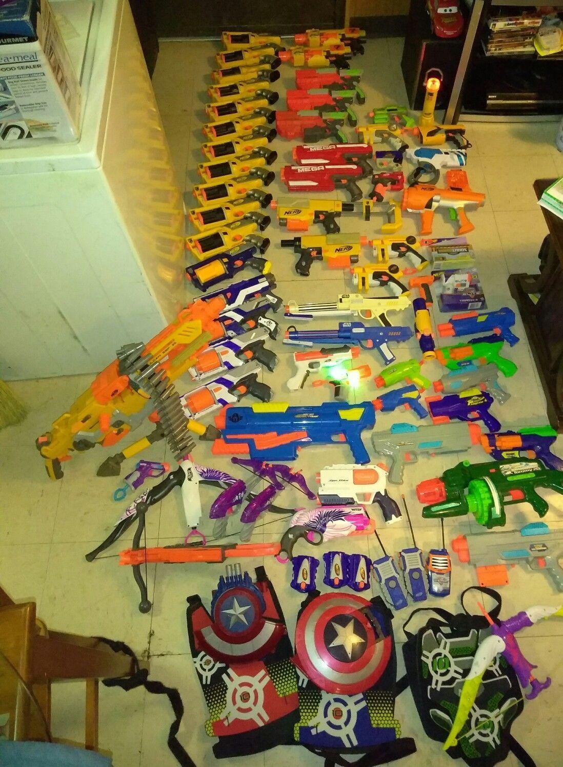 Nerf Gun Lot of 74