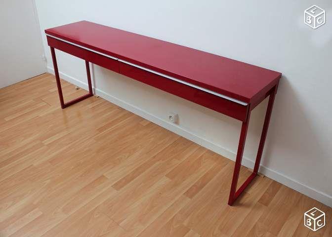 Long bureau rouge Ikea BEST BURS Ameublement Vienne leboncoin