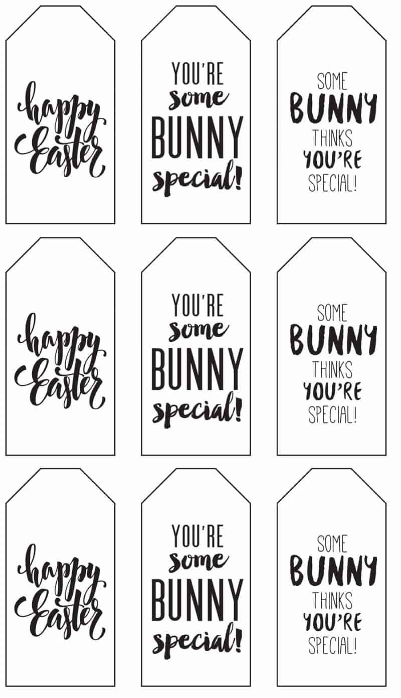 Happy Easter Cookie Tags Happy Easter Gift Tags Easter Tags Printable Happy Easter Cookie Cards Easter Favor Tags Easter Cookie Cards