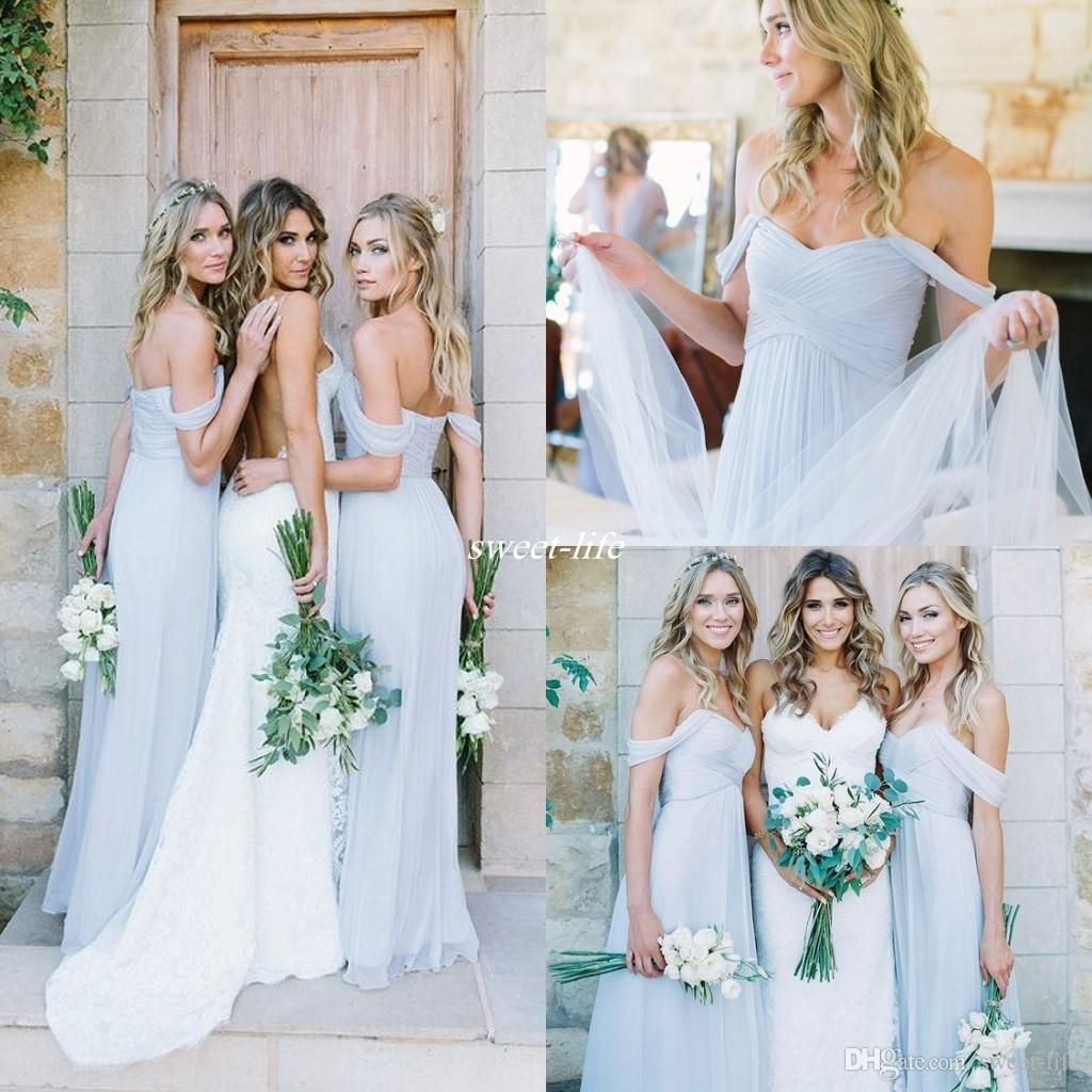Amsale 2017 gorgeous draped sky blue off shoulder beach boho long amsale 2017 gorgeous draped sky blue off shoulder beach boho long bridesmaid dresses bohemian wedding ombrellifo Gallery