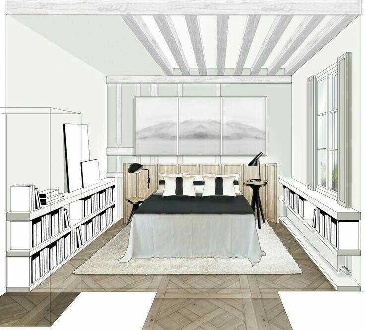 Ju0027adore ce dessin du0027une chambre Chambre perspective Pinterest - dessiner sa chambre en d