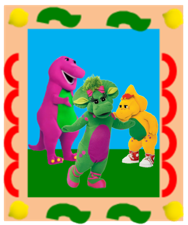 A Picture of Baby Bop, Barney, and BJ, From Barney & BJ