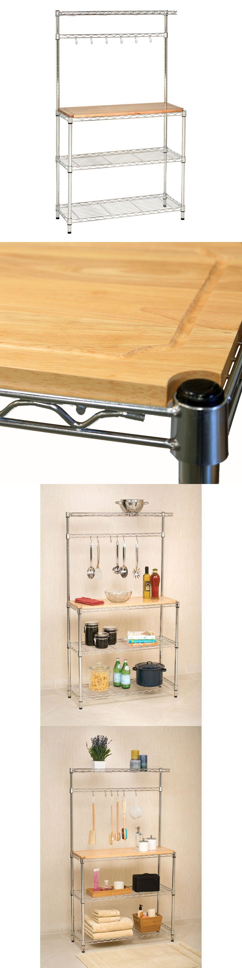 perfect bakers shelves wooden to a iron addition for rack with your and kitchen drawers