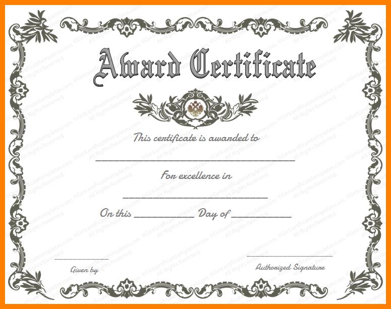 Scholarship Certificates Templates Certificate Of Achievement Template Certificate Of Recognition Template Free Printable Certificates