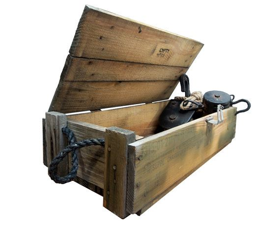 Military Wood Furniture ~ Wooden ammo crate pierce cabin pinterest crates
