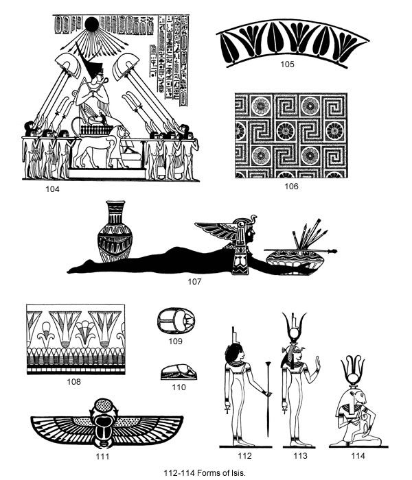 Ancient Egyptian Designs and Motifs CD-ROM and Book