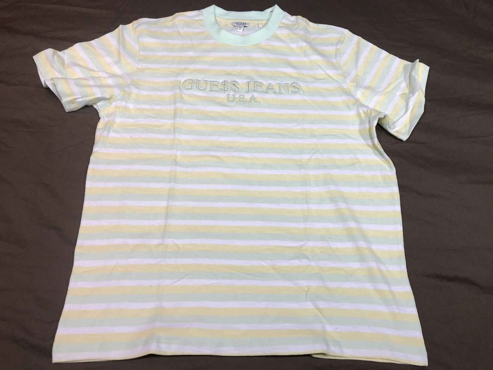 6c313feaab2c Guess ASAP Rocky Gue$$ Cotton Candy Club Tee Yellow Green Collar T Shirt  Large #fashion #clothing #shoes #accessories #mensclothing #shirts (ebay  link)