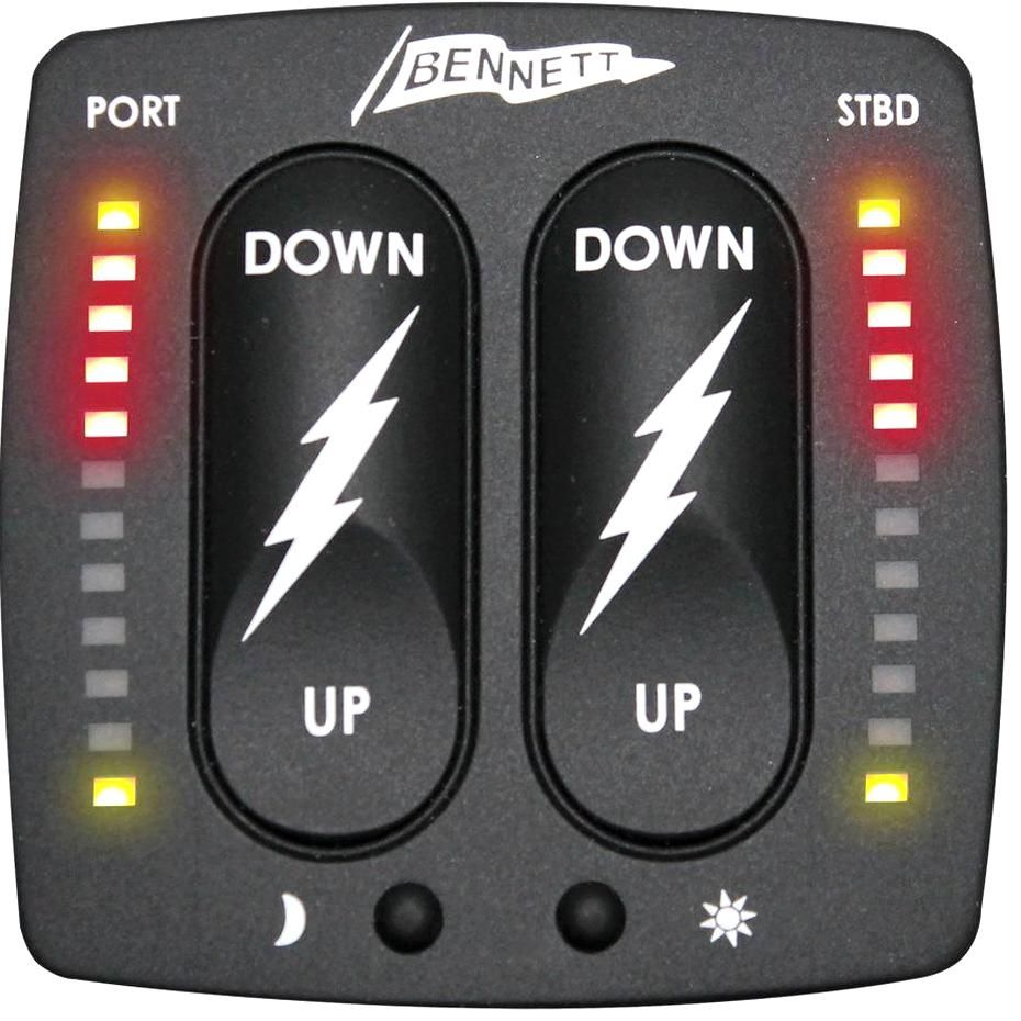 Bennett Marines Bolt Control With Indicatorsbines 3 Features Into 1pact Control Rocker Switch Control Trim Tab Position Indic In 2020 Marine Electronics Marine Bennett