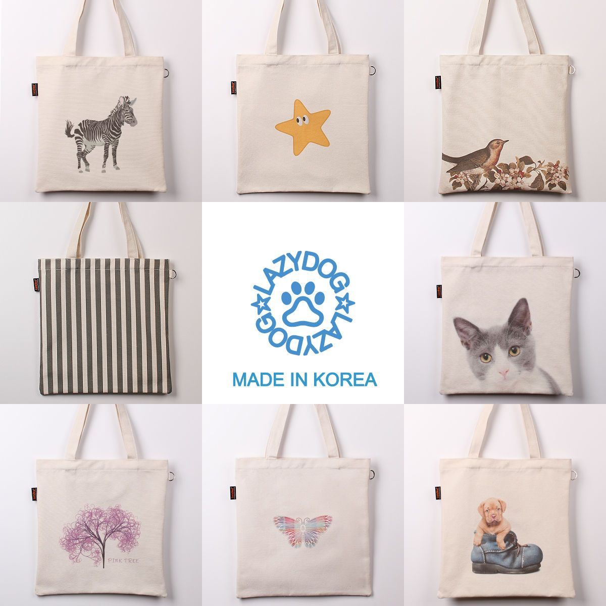 07597c52021 Korean Style Canvas Tote Bag