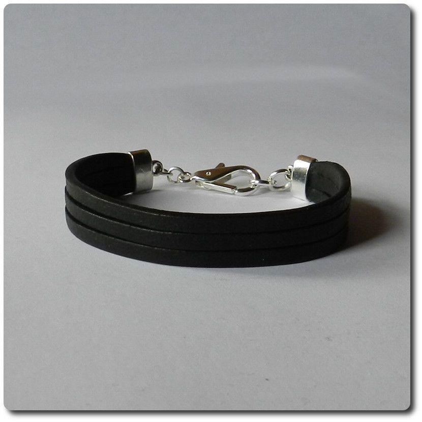 damen herren design 100 leder armband lederarmband schwarz black edition style schmuck. Black Bedroom Furniture Sets. Home Design Ideas