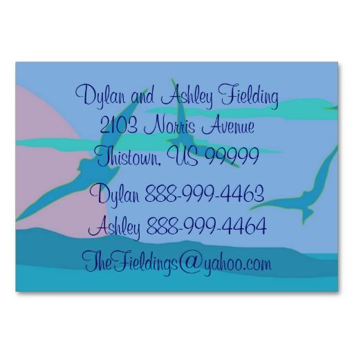 Blue Ocean Paradise At Home Address Business Card