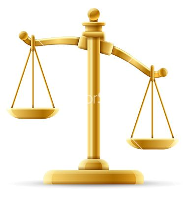 Unbalanced Scale Of Justice Vector Image On Scale Justice Scale