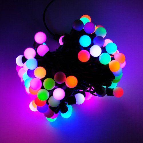LED ball string lights For the Home Pinterest