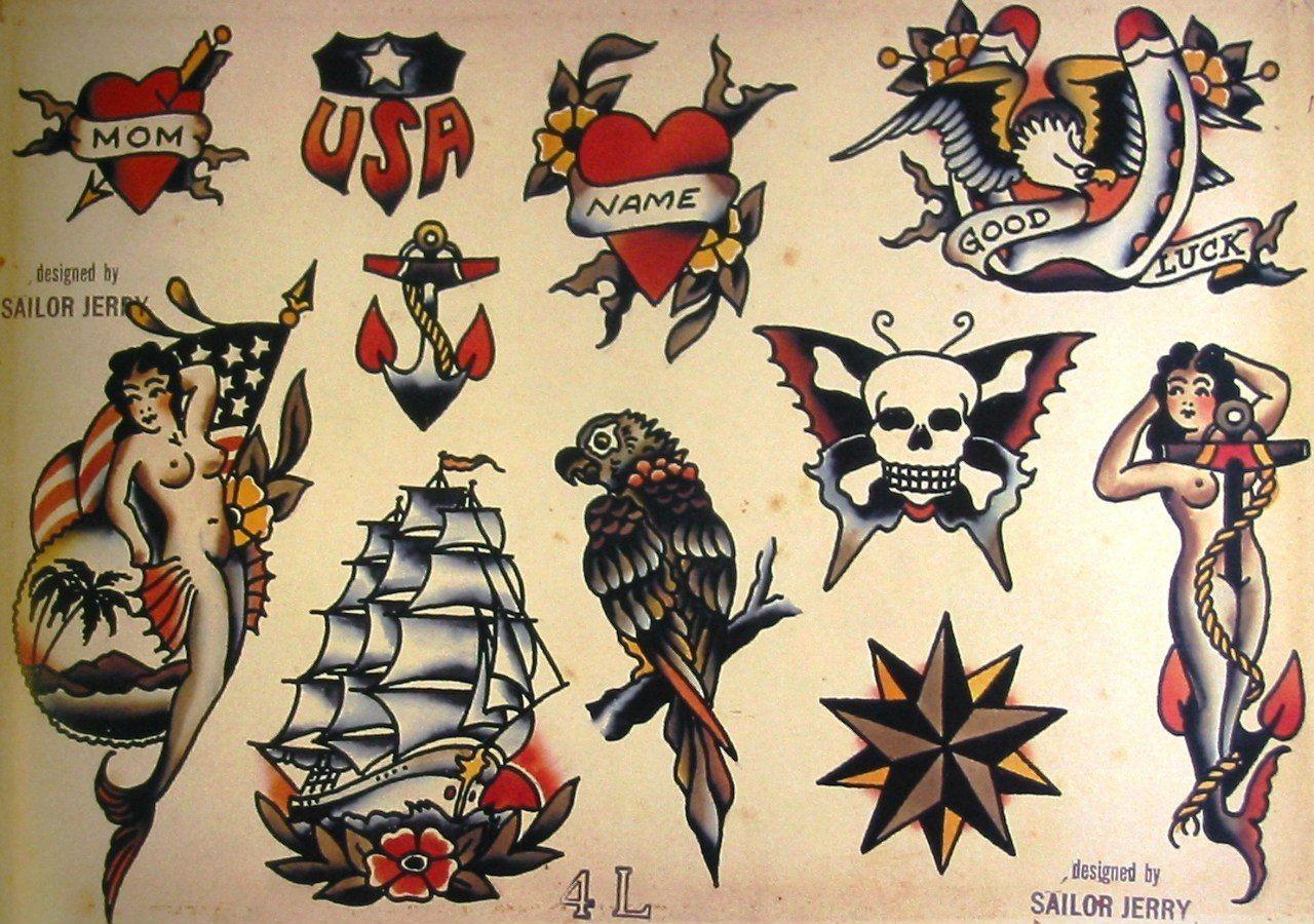 Sailor Jerry Tattoo Flash Volume 1 53 Photos Vk
