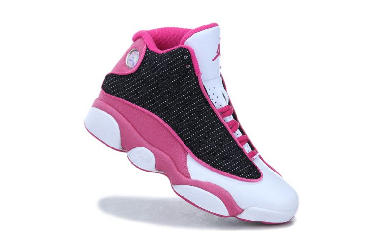 womens air jordan 13 retro shoes black pink