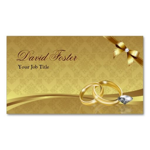 Wedding Ring Diamond Gold Jeweler Jewelry Jeweller Business Card - Jewelry business card templates