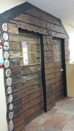 Little House In The Big Woods Log Cabin Classroom Doors