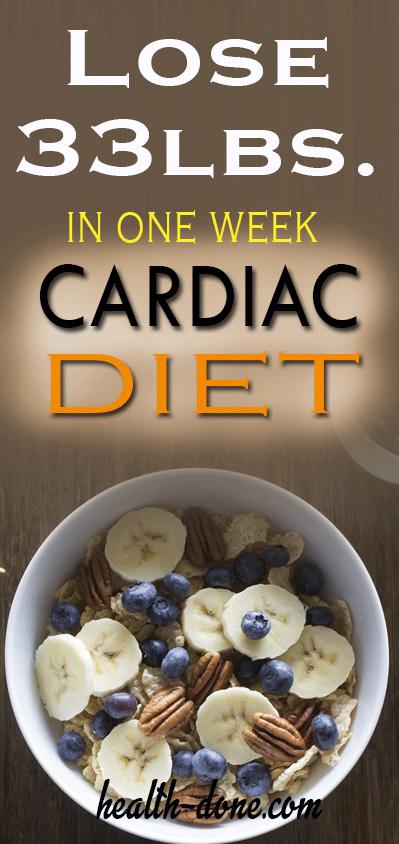 Photo of 33 Pfund in 15 Tagen verlieren Mit Cardiac Diet für Weight Loss #weightloss #cardiac …