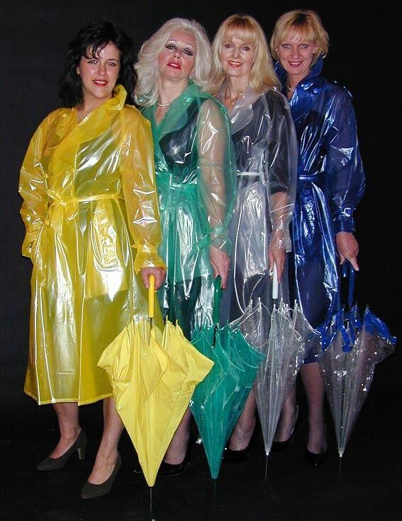 7603f742c Pretty girls in plastic macs | Rainwear | Pvc raincoat, Raincoat ...