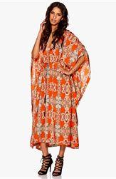 Make Way Sky Dress Orange/Multi/Paisley Bubbleroom.dk
