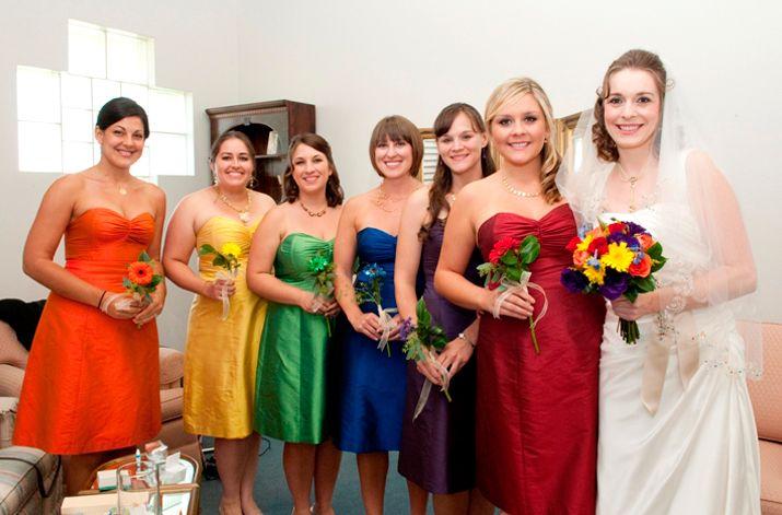 Colored Bridesmaid Dresses