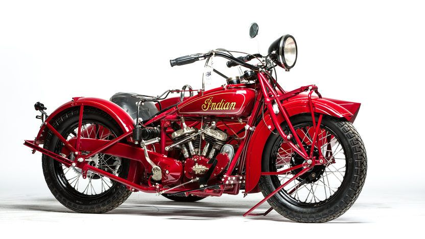 1928 Indian 101 Scout With Sidecar S65 Ej Cole Collection 2015 Sidecar Mecum Auction Scout