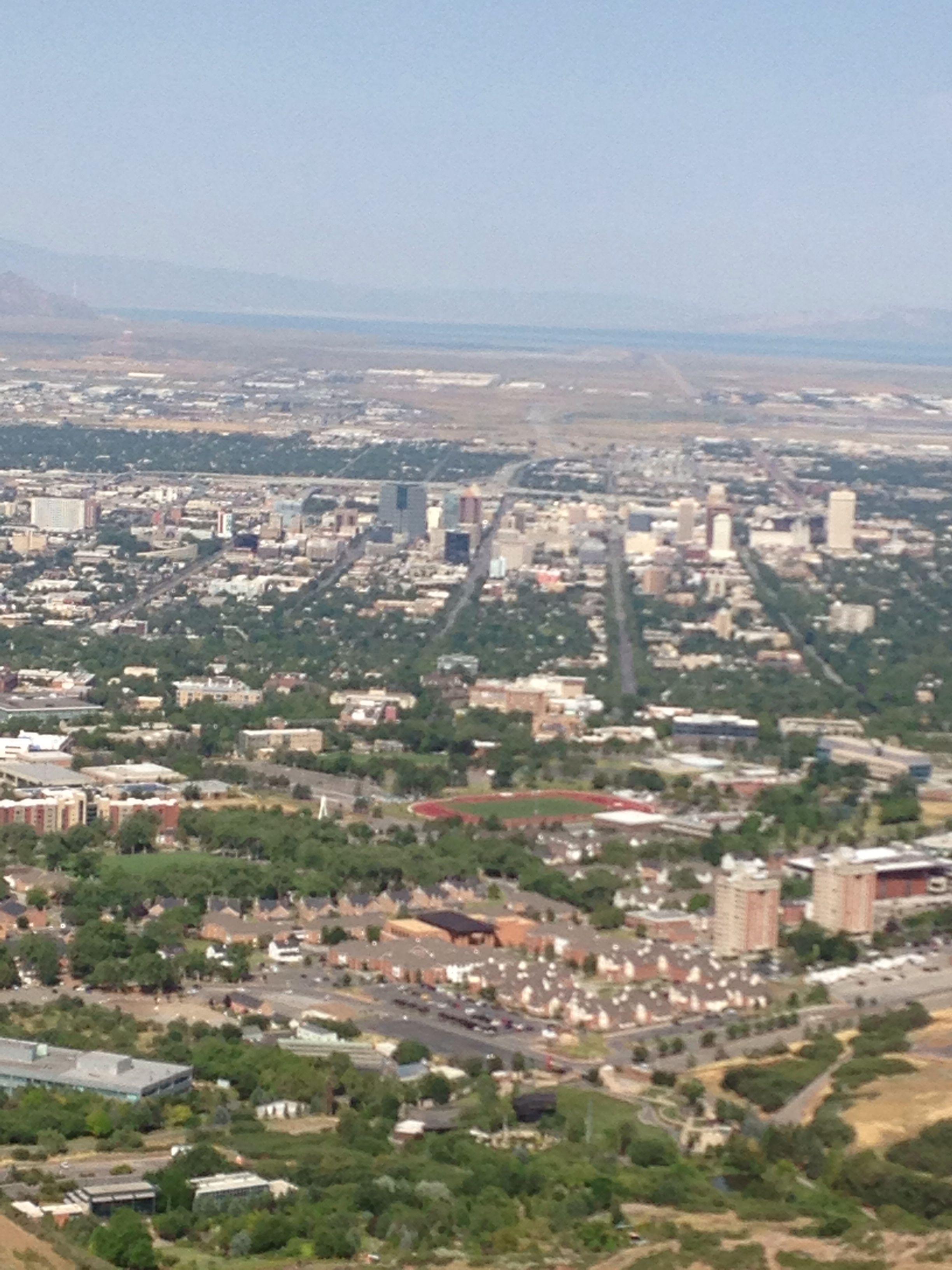 Salt Lake City From The Living Room Hike