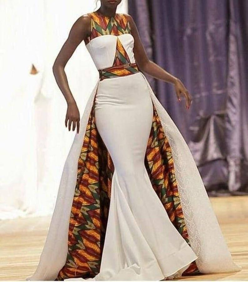 Trail Cape Dress #afrikanischeskleid