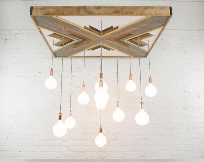 Photo of Mountain Reclaimed Wood Chandelier – Large Rustic chandelier…