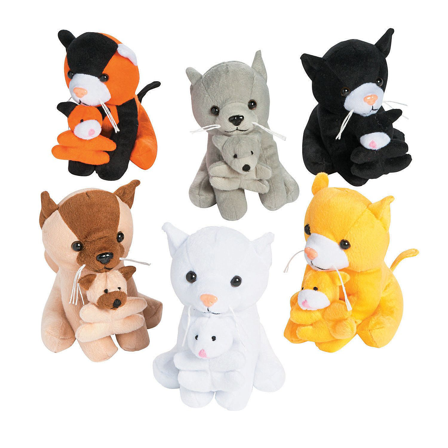 Stuffed Cats Holding Kittens Cat Party Cat Birthday Kittens Cutest
