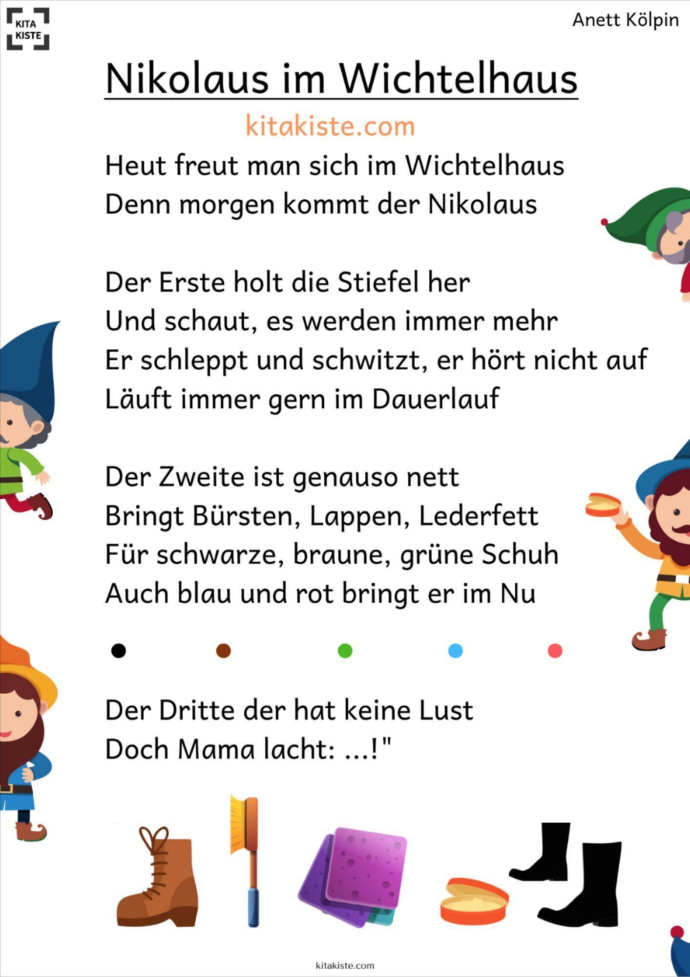 Nikolaus Im Wichtelhaus 2 Versionen Tischdekoweihnachtenbasteln Nikolausgeschenk Nikolaus Im Wichtelha Nikolaus Lieder Nikolaus Weihnachtsratsel Fur Kinder