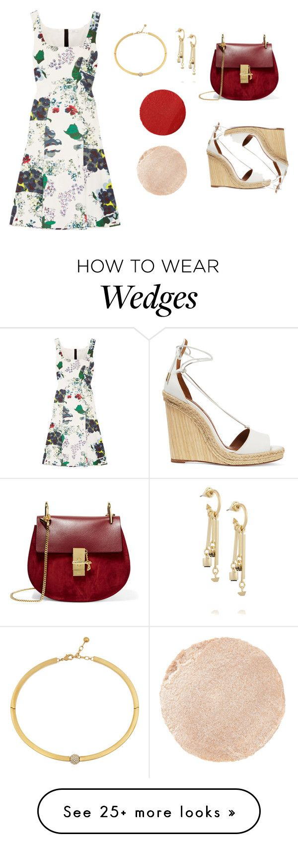 """Pattern Dress"" by anandiek on Polyvore featuring Erdem, Aquazzura, Chloé, Eddie Borgo, Wander Beauty, Tom Ford, Summer, dress, print and pattern"