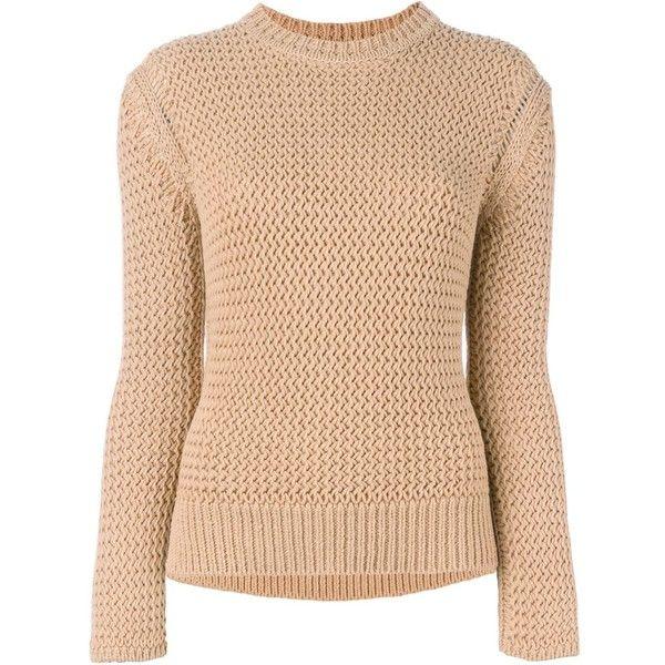 Joseph Crew Neck Jumper (€150) ❤ liked on Polyvore featuring tops, sweaters, crew neck sweaters, crew neck jumper, crew sweater, cotton crewneck sweater and joseph sweater