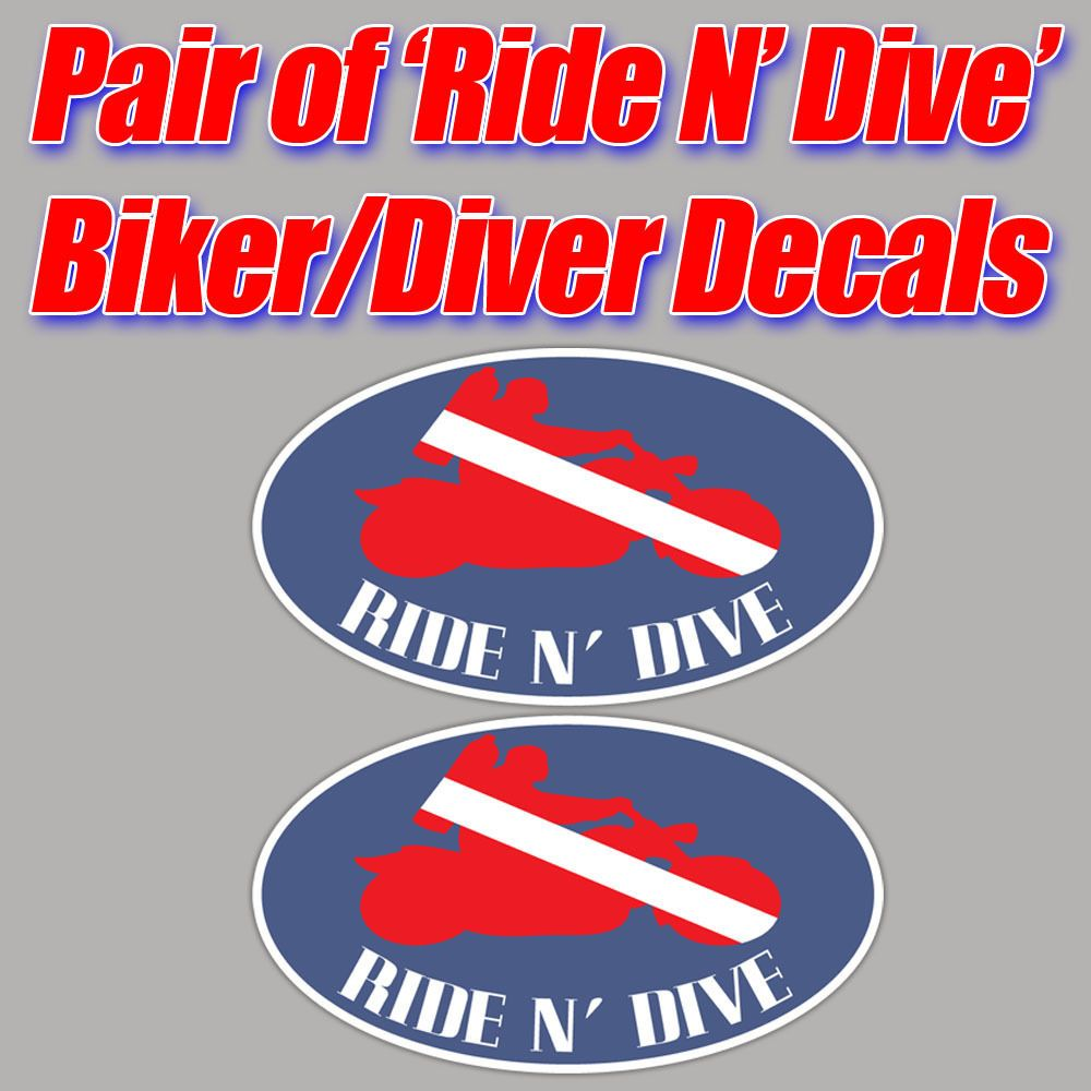 Nitrox scuba decal diver down flag graphic sticker enriched air toolbox tank