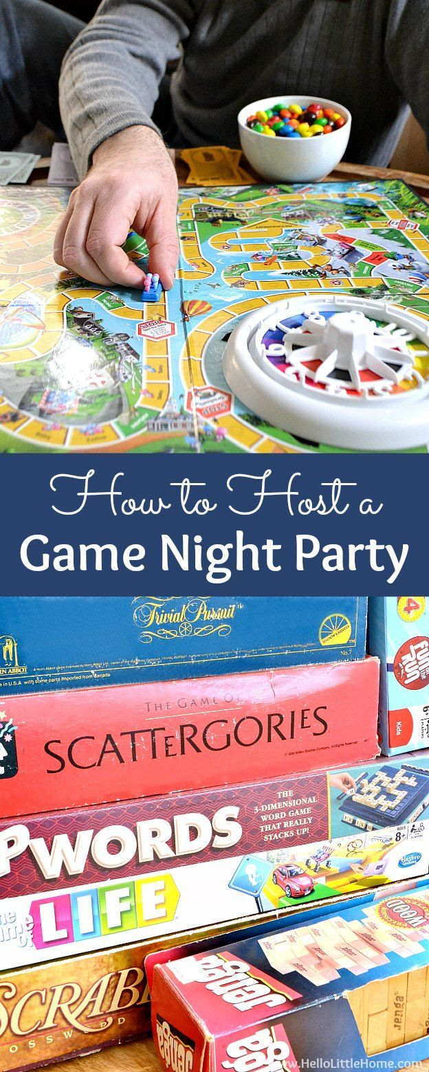 How to host a Game Night Party! Tons of fun and easy game