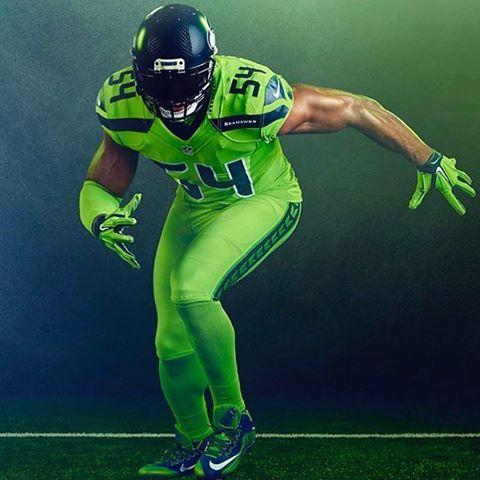 Camisa Futebol Americano Nfl Wilson Seattle Seahawks