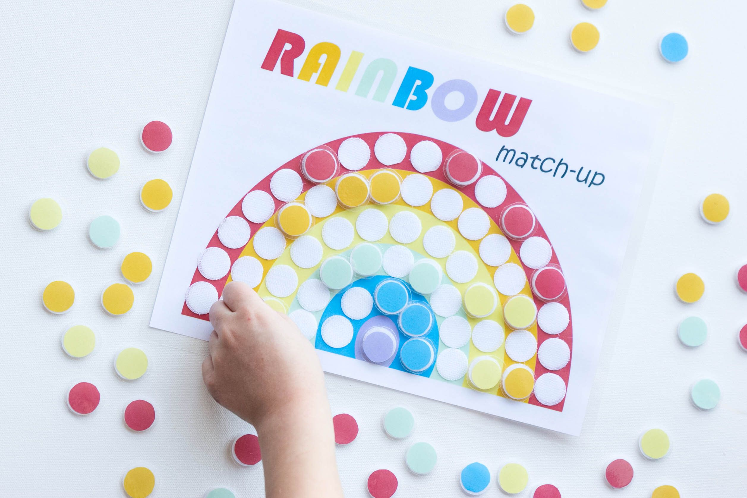 Multi Use Rainbow Color Matching And Sensory Worksheet In