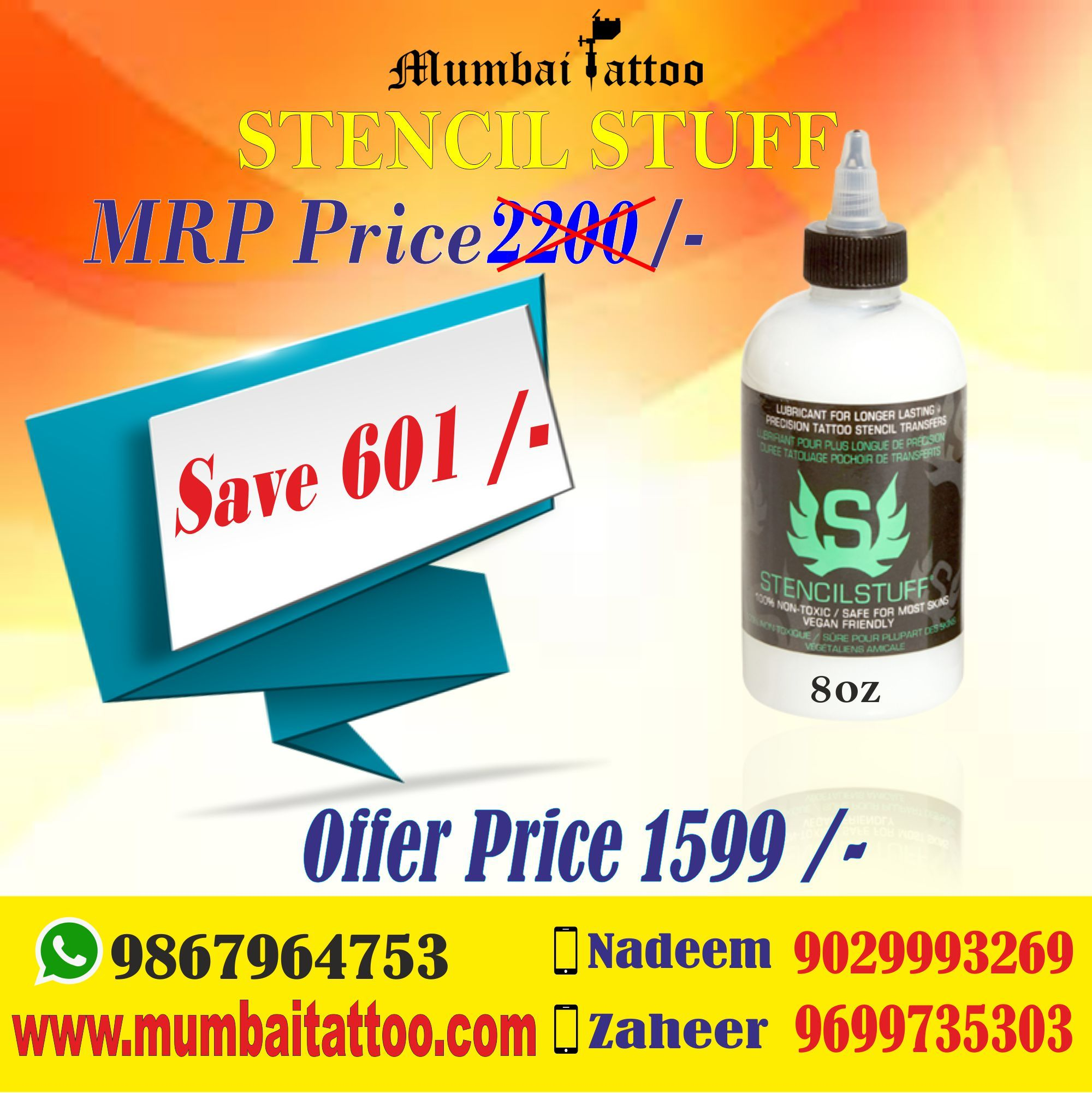 Buy stensil stuff at Rs.1599 for one and save heavy on mrp