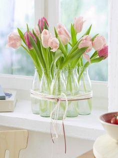 5 einfache deko ideen mit tulpen und ranunkeln easter and crafts. Black Bedroom Furniture Sets. Home Design Ideas