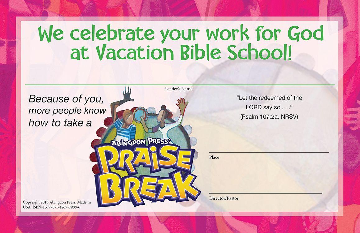 Vacation Bible School (VBS) 2014 Praise Break Leader
