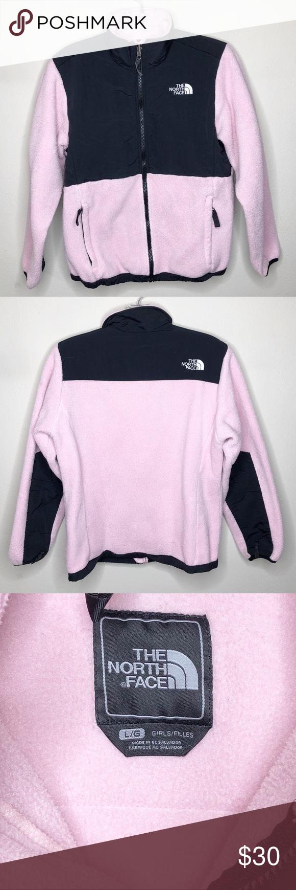 The North Face Denali Jacket Pink Black Girls L The North Face Black Girls Black Pink [ 1740 x 580 Pixel ]
