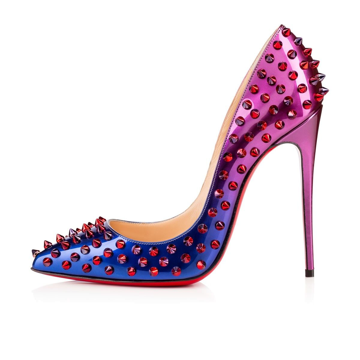 Follies Spikes 120mm Rose Digitale Patent Leather