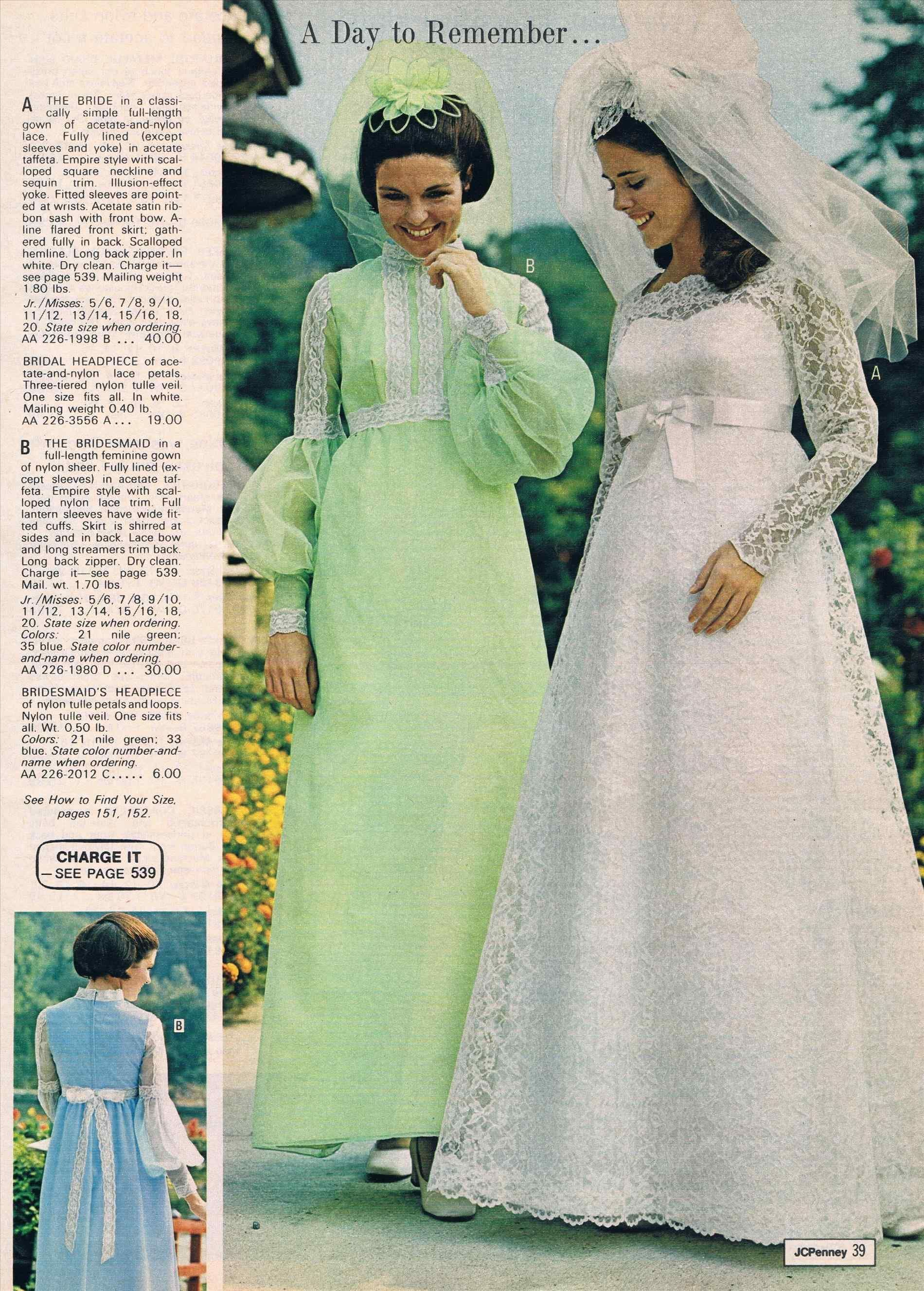 Bildergebnis Fur 1970 Wedding Fashion Catalogue Vintage Bridesmaid Dresses Jcpenney Wedding Dresses Vintage Bridal Fashion [ 2655 x 1900 Pixel ]