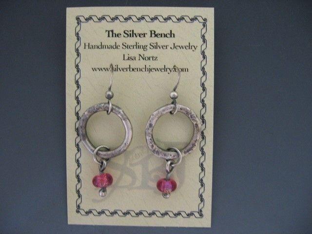 Beaded Organic Ring Earrings