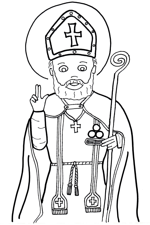 Ausmalbilder Bischof Nikolaus Kostenlos : Obrazki Do Kolorowania Katecheza Wed Ug Natana Wi Ci